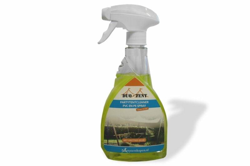 partytent schoonmaken spray